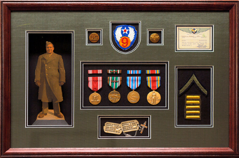 our military gift frames are an ideal way to celebrate the life of a relative celebrate special ribbons and medals in an exquisite top quality display - Military Frames